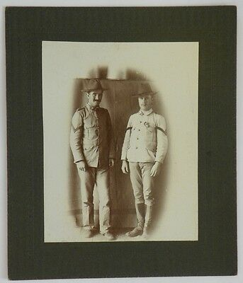 OLD Cabinet Card US Army Soldiers SGT & CPL Btry D, 2nd US Artillery Cuba c1900
