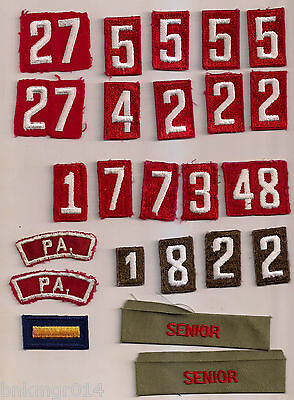 Boy Scouts of America Lot of (24) Numbers & Misc Embroidered Patches