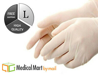 100 Medical Exam Latex Powder Free Gloves - 5 mil Thick - Size Large