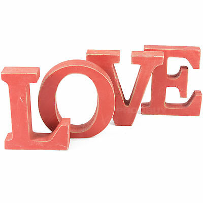 Romantic Gift Red Love Letter Blocks Wooden Decorative Ornament Word Decoration