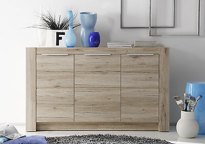 Sideboard Anrichte Kommode Eiche San Remo Hell Woody 93-00516
