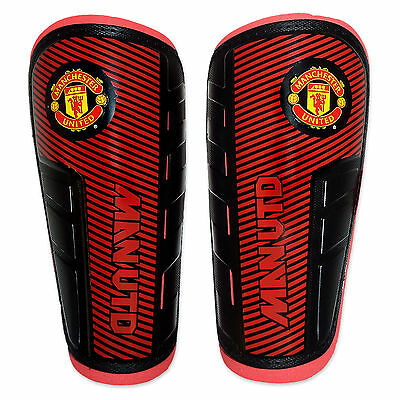 Manchester United FC Official Football Gift Boys Shinguards Shinpads