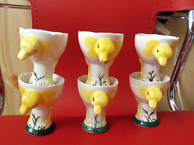 (6) VINTAGE~CHICKEN~CHICKS~EGG CUP~CUPS~JAPAN~
