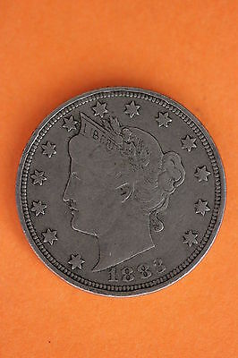 1883-P No Cents Liberty Head Nickel Additional Items You Buy Ship For FREE #25