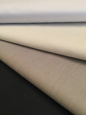 Thermal Blackout Curtain Lining Fabric 3 Pass Coated Material Sold Per Metre