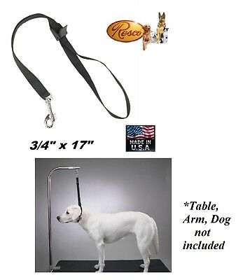 SMALL-MEDIUM DOG RESCO Nylon Grooming Table Arm Bath Adjustable SPEED NOOSE Loop