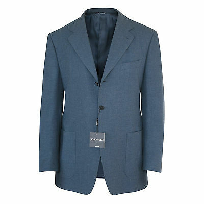 CANALI $1,280 blue fully canvased winter sport coat blazer jacket 40/50 7R NEW
