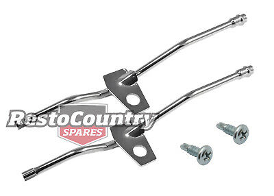 Holden Torana LH LX UC Windscreen Washer Nozzle Jet only Pair CHROME wiper