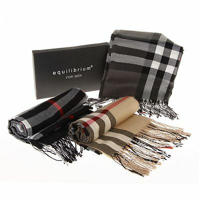 Equilibrium for Men Checked Scarf - 3 Colours to Choose From - Boxed 6196