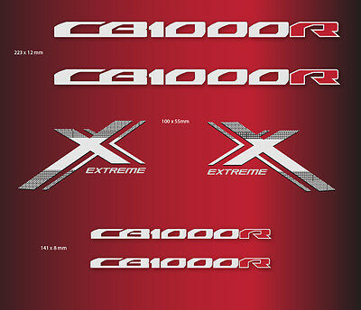 CB 1000 R extreme  (rouge) autocollant sticker decal aufkleber moto