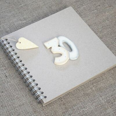 East of India Keepsake Book - 30 th Birthday Brown Kraft Cover Thirty Guest Book