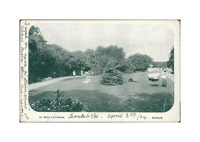 BEDFORD St Mary's Gardens Postcard BEDFORDSHIRE Anon