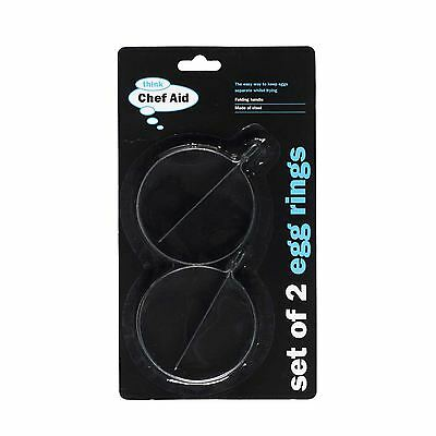 2 X Chef Aid Steel Egg Cooking Rings
