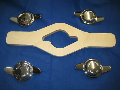 Mg New Set Of 4 8Tpi Mgb Midget Chrome  Wire Wheel Spinners & Spinner Saver ***