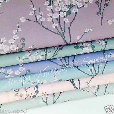 JAPANESE oriental blossom 100 % cotton poplin fabric dressmaking 112cm wide