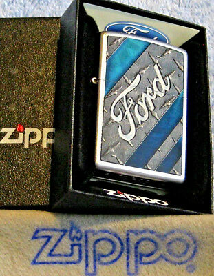 ZIPPO   FORD  Lighter  METAL  Built Tough  NEW STOCK   Mint In Box