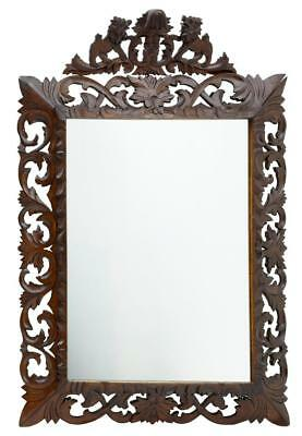 19Th Century French Carved Oak Mirror