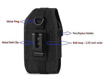 """OEM REIKO Heavy Duty Rugged Carrying Side Case Pouch Holster Clip 2"""" Belt Loop"""
