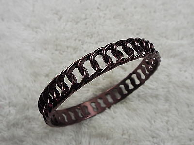 Chocolate Fixed Chain Bangle Bracelet (D41)