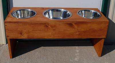 """NEW 15"""" ELEVATED PET DOG FEEDER RAISED WITH A LARGER CENTER BOWL WATERPROOFING"""