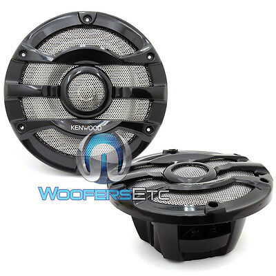 "Kenwood Kfc-2053Mrb 8"" 2-Way Marine Boat Audio 300W Max Coaxial Speakers New"