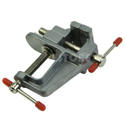"""36mm 3.5"""" Vise Tool Aluminum Mini Small Jewelers Hobby Clamp On Table Bench Vice"""
