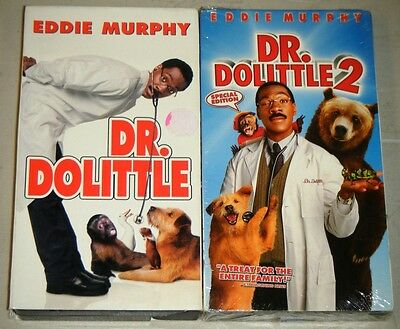 DR. DOLITTLE & DR. DOLITTLE 2 SPECIAL EDITION VHS Movie Set - With Eddie Murphy!