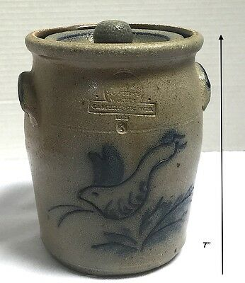 """1982?*Rowe Pottery Works*Bunny/Rabbit*Crock*Canister with Lid*RPW*7"""" Tall*"""