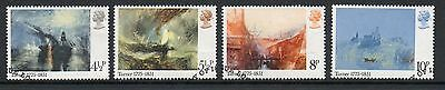 GB 1975 J.M.W. Turner Bicentenary fine used set stamps