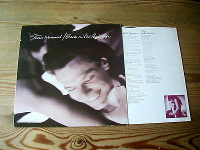 STEVE WINWOOD BACK IN THE HIGH LIFE SUPERB 1986 VINYL LP + INNER LYRIC WALLET