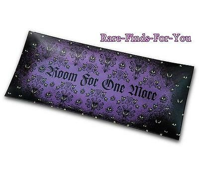 """Disney Parks Haunted Mansion """"Room For One More"""" Table Serving Platter Tray NEW"""