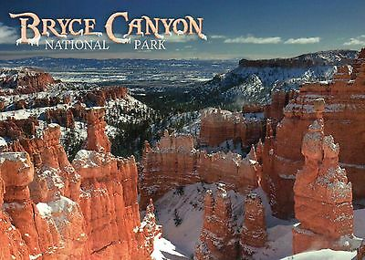 Bryce Canyon National Park, Utah, Rock Formations in the Winter, UT --- Postcard