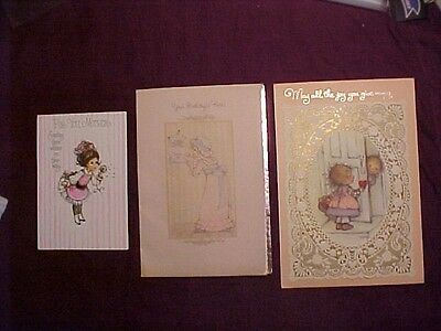 3 Vtg HALLMARK Cards Mary Hamilton CHARMERS Little Girls Crafts Scrapbooking Etc