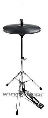 "Stagg 14"" Plastic Practice Hi-Hat Cymbals For Drum Kits With Mapex Tornado Stand"
