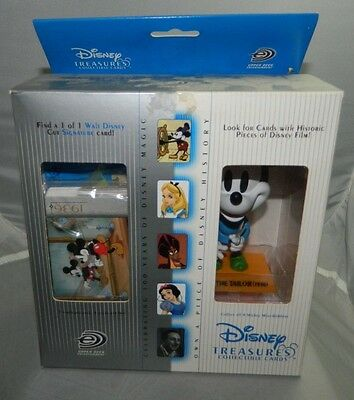 Disney Treasures Upper Deck Tailor Mickey Mouse Bobblehead Collectible Cards