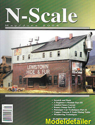 N-Scale Magazine May 2004 Flat Car Loads Forklifts EMD GP39 G Cale Rotary Car
