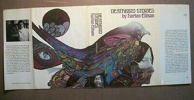 ORIGINAL DUST JACKET for the 1st ed. of Deathbird Stories, by Harlan Ellison