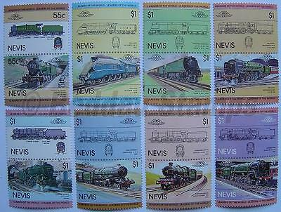 1983 NEVIS Set #1 Train Locomotive Railway Stamps (Leaders of the World)