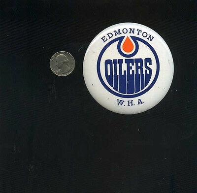 vintage 1973 World Hockey Association Edmonton Oilers WHA button pinback pin