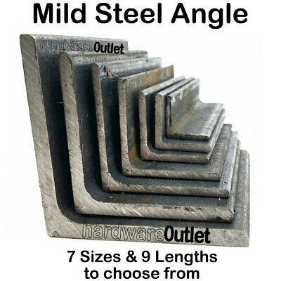 Mild Steel ANGLE Iron 20, 25, 30, 40, 50, 60, & 75mm +15 Lengths to choose from