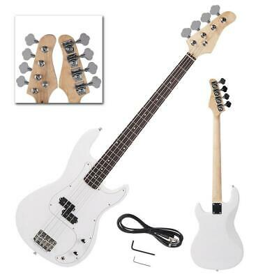 New Brand White 4-String Electric Bass Guitar