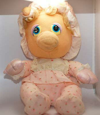 Vintage Muppets Muppet Babies Pampers Miss Piggy Pig Plush Hasbro Softies