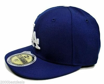 New Era 59Fifty Kids Cap Los Angeles Dodgers Game Fitted Royal Blue Hat