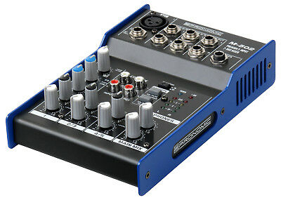 5-Kanal Studio Mischpult PA Mixer Home Recording Phantomspeisung Status LED