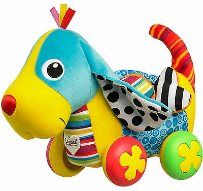 Lamaze PIPPIN THE PUSH ALONG PUP Dog Soft Toy Squeak/Rattle Baby/Toddler BN