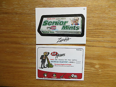 2005 WACKY PACKAGES ANS2 2ND SERIES SENIOR MINTS CARD SIGNED JEFF ZAPATA POA