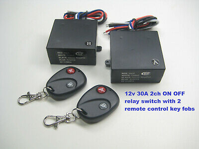 Msd Inc 12V Dc 20A 2 Channel On/off Wireless Remote Control Relay Switch Rx108