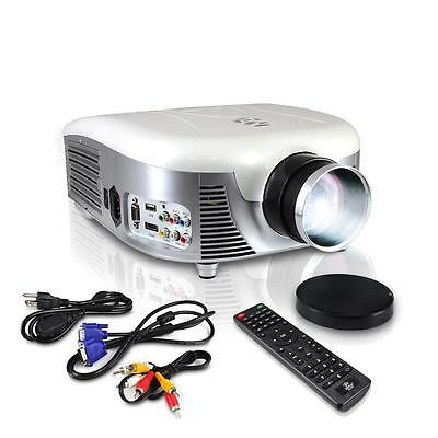 "Pyle Widescreen LED Projector 140""Screen, Built-In Speakers, USB& Supports 1080p"
