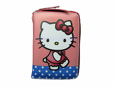 Hello Kitty Red Dress Plastic Closure Strap Wallet Card Holder 1207060147