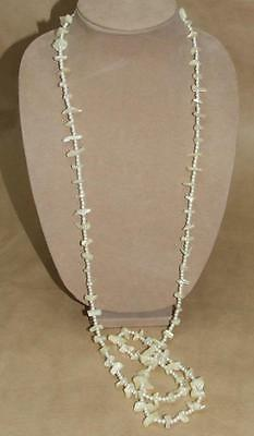 Vintage MOP Mother of Pearl & Faux Pearl 52 inch Necklace